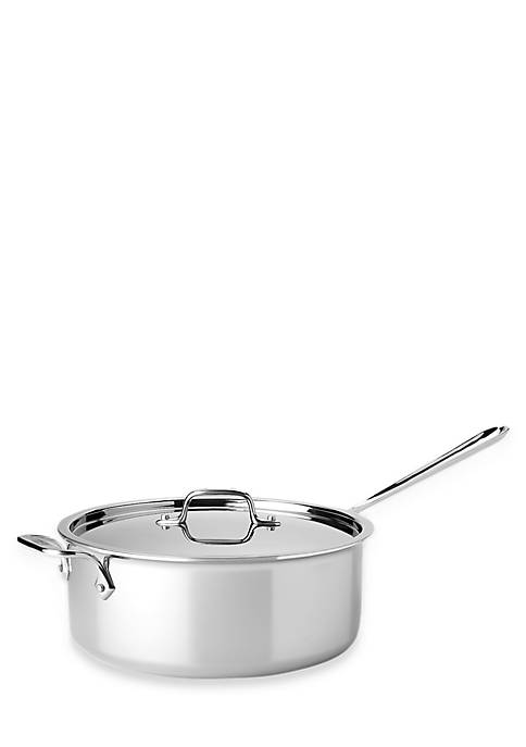 6-qt. Deep Saute Stainless Steel Pan with Lid