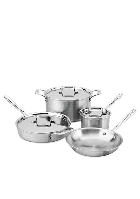 All-Clad Brushed d5 7-Piece Cookware Set