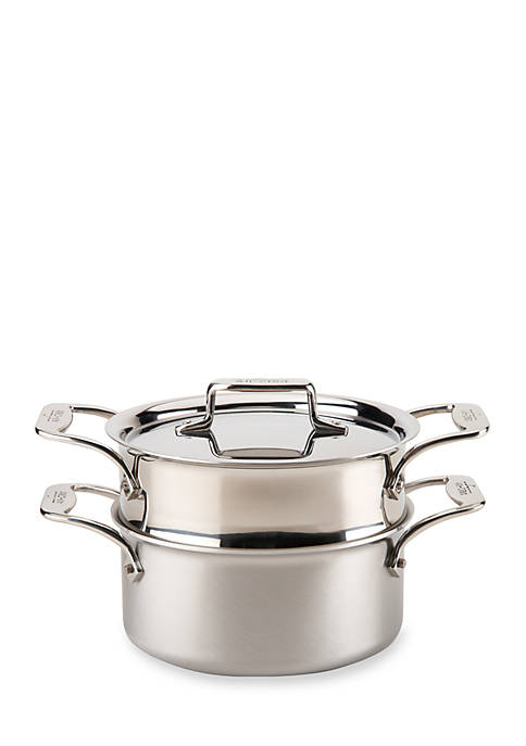 All-Clad d5® Stainless Steel 3-qt. Casserole with Steamer