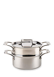 d5® Stainless Steel 3-qt. Casserole with Steamer