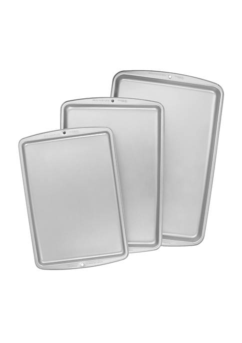 3-Piece Nonstick Cookie Sheet Set