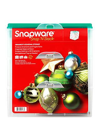 Snapware Three Layer Ornament Box Belk, Snapware Ornament Storage