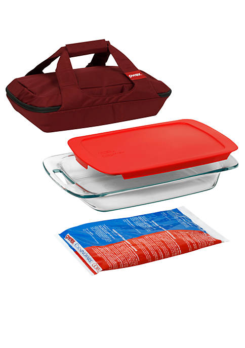 Pyrex Red Portables Bakeware Set