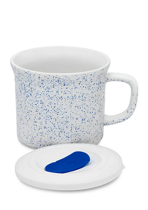 Corningware Speckle Mug with Vented Plastic Lid