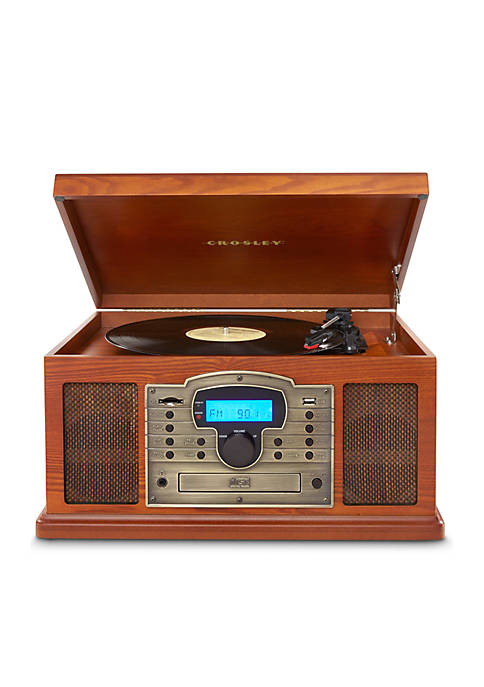 Crosley Patriarch Entertainment Center With Bluetooth and PVC