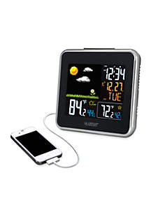 Wireless Weather Station with USB Charging Port - Online Only