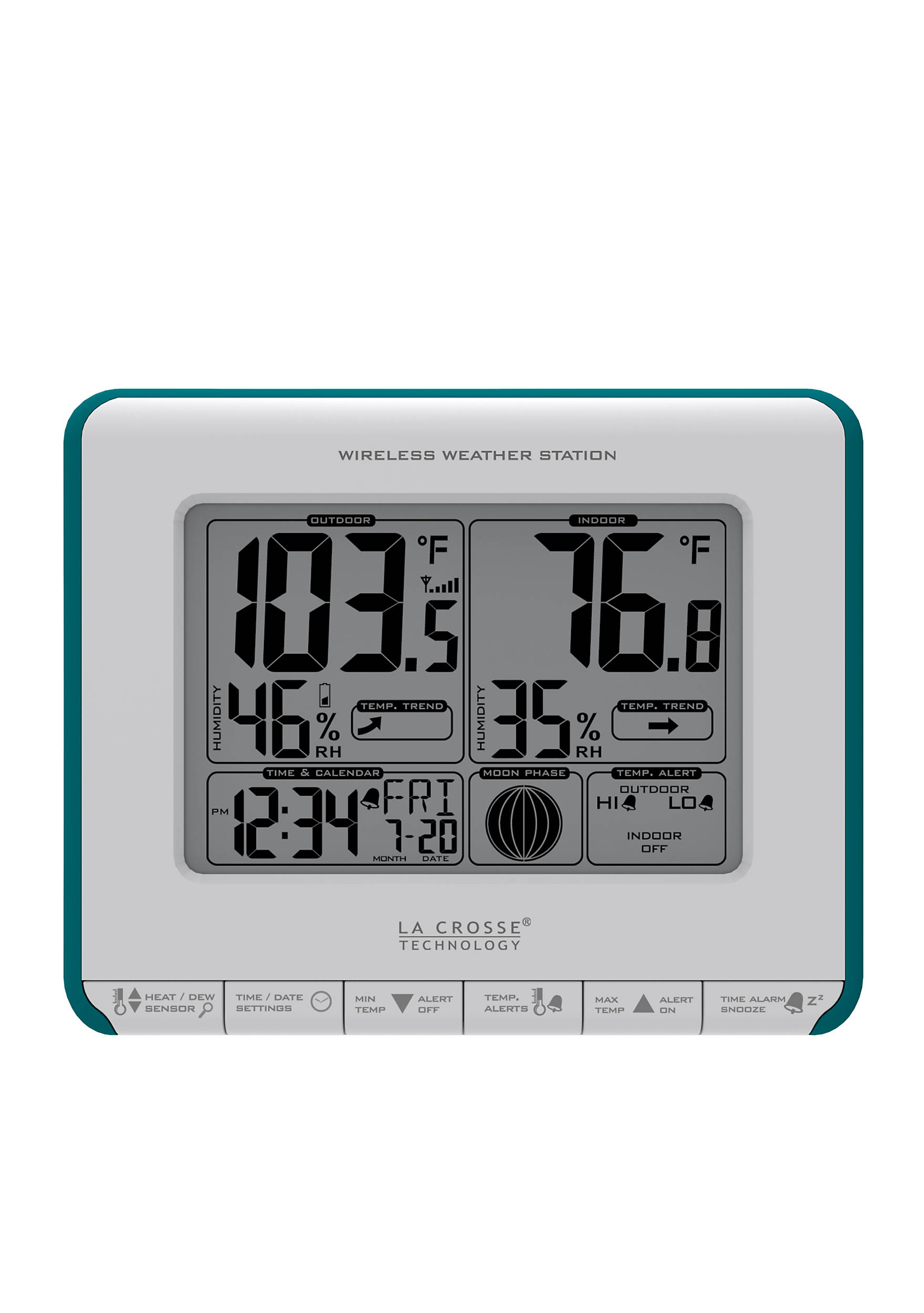 LaCrosse Technology Wireless Weather Station with Heat Index & Dew ...