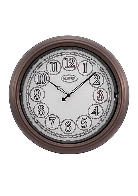 Indoor/Outdoor Lighted Wall Clock
