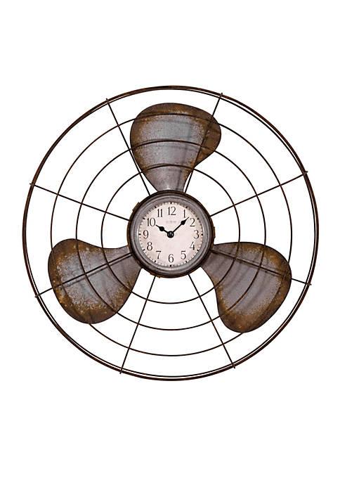 LaCrosse Technology Metal Fan Wall Clock