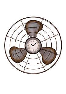 Metal Fan Wall Clock