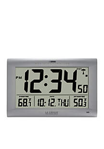 Large Digital Clock with Outdoor Temperature