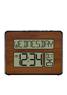 LaCrosse Technology Atomic Digital Wall Clock With Back Light Wood