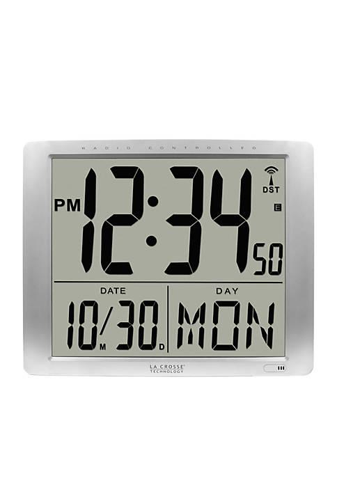 Atomic Large 16-in. Digital Wall Clock