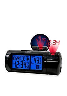 Round LCD Projection Alarm Clock with Out Temperature