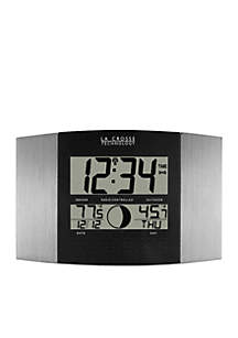 Atomic Digital Wall Clock with Moon Phase and Temperature - Online Only