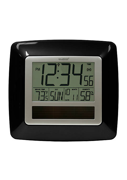 Solar Atomic Digital Clock with Temperature & Humidity