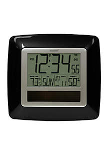 Solar Atomic Digital Clock with Temperature & Humidity - Online Only