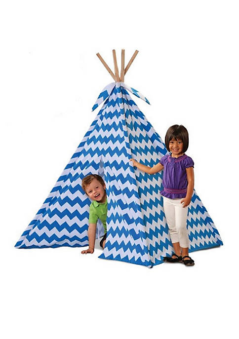 Discovery Kids Canvas Teepee Tent with Wood Poles