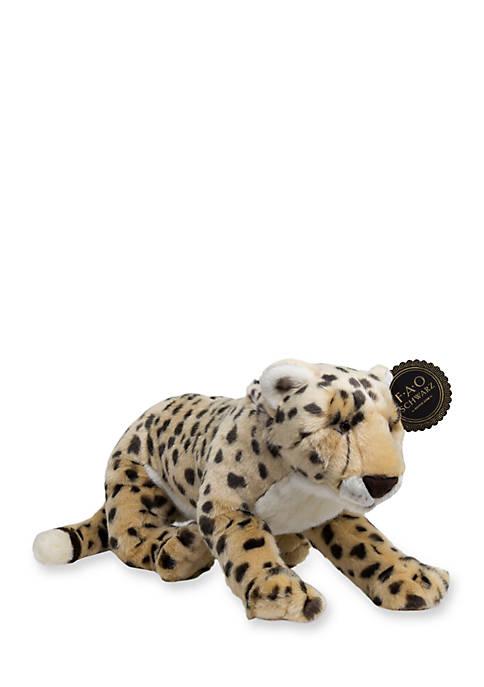 FAO Schwarz Plush Stuffed Cheetah