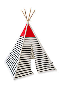 Canvas Teepee Tent With Wood Poles
