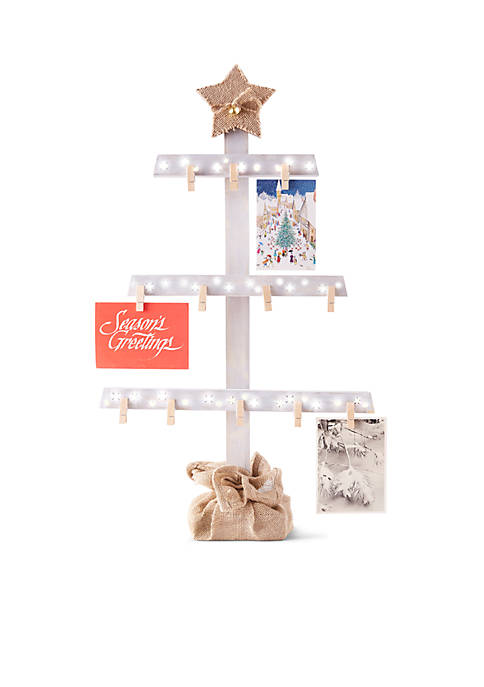 FAO Schwarz LED Tree Card Holder Display