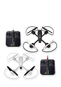 Sharper Image 2-Pack 5-in. Drone Mach Racer with Obstacle Course