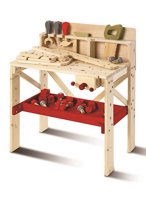 64-Piece Set Solid Wood Work Bench