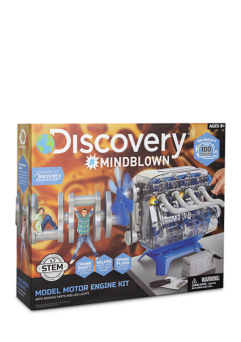 Discovery Kids Mindblown STEM Model Motor Engine Kit