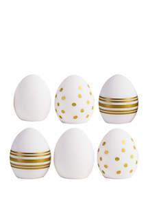 FAO Schwarz 6 Pack LED Golden Easter Eggs