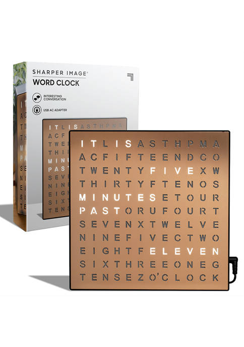 Sharper Image Table Top Word Clock LED