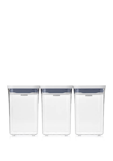 Small Square Short Pop 3 Piece Storage Set