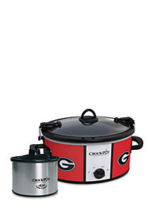 University of Georgia CrockPot Slow Cooker with Lil Dipper - SCCPNCAA603UGA
