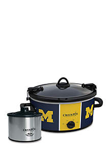 University of Michigan CrockPot Slow Cooker with Lil Dipper - SCCPNCAA603UMI