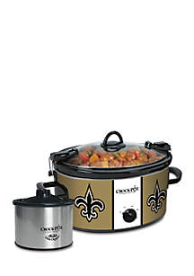 New Orleans Saints CrockPot Slow Cooker with Lil Dipper - SCCPNFL603NO
