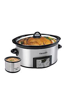 CrockPot Programmable 6-qt. Slow Cooker with Bonus Little Dipper ... 55b272cc4
