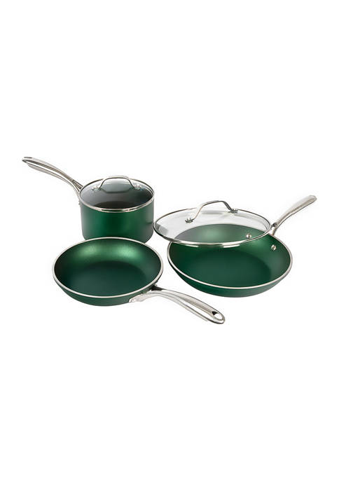 5 Piece Ultra-Durable Mineral and Diamond Infused Cookware Set