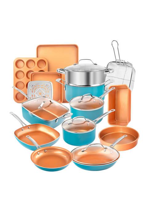 Gotham Steel 20 Piece Ti-Ceramic Nonstick Cookware and