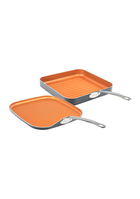 10.5 Inch Grill And Griddle Pans-2 Pack