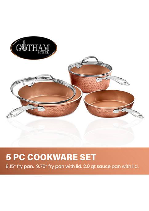 Gotham Steel 5-Piece Hamme Ti-Ceramic Nonstick Cookware Set