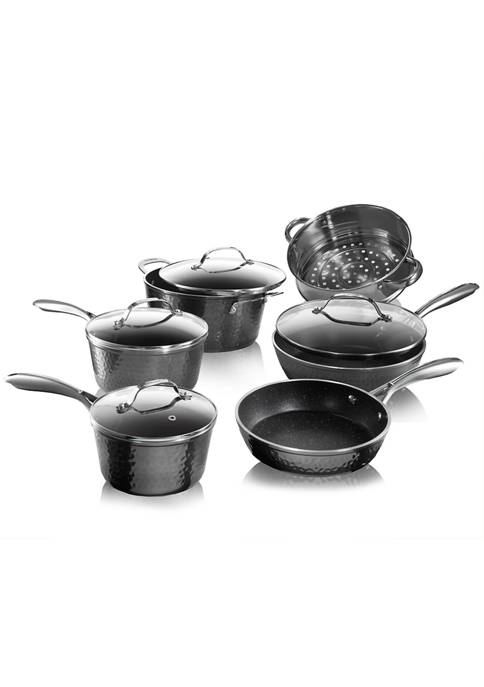 Granite Stone Diamond 10-Piece Hammered Ultra-Durable Mineral And