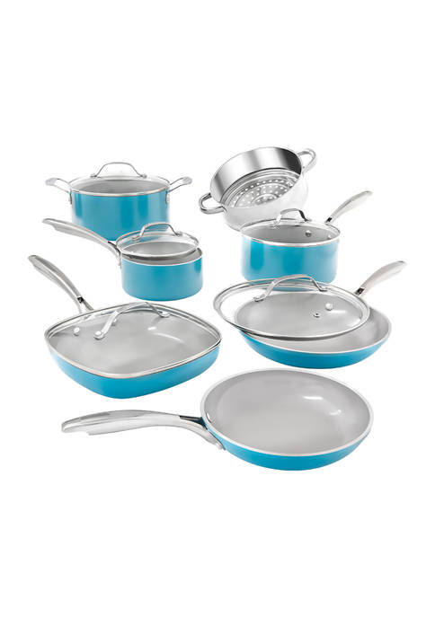 Gotham Steel 12 Piece Ocean Ti-Ceramic Nonstick Cookware