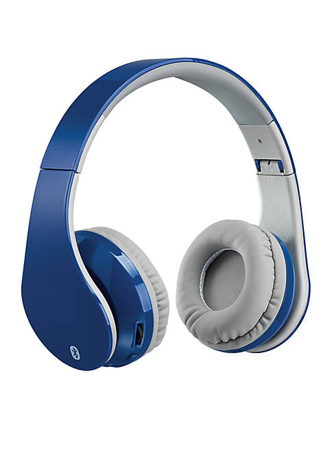 iLive Bluetooth Head Phone AUX In Blue
