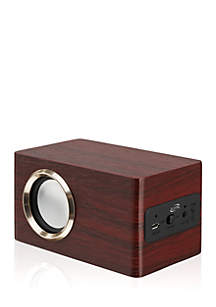 iLive Bluetooth Speaker Rose Wood with Gold Accent