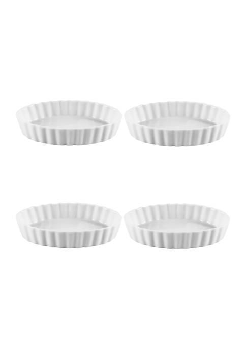 Home Essentials & Beyond Porcelana White Oval Ramekins
