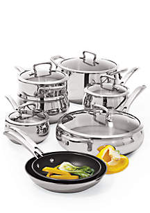 Belly Shaped Stainless 13-Piece Cookware Set