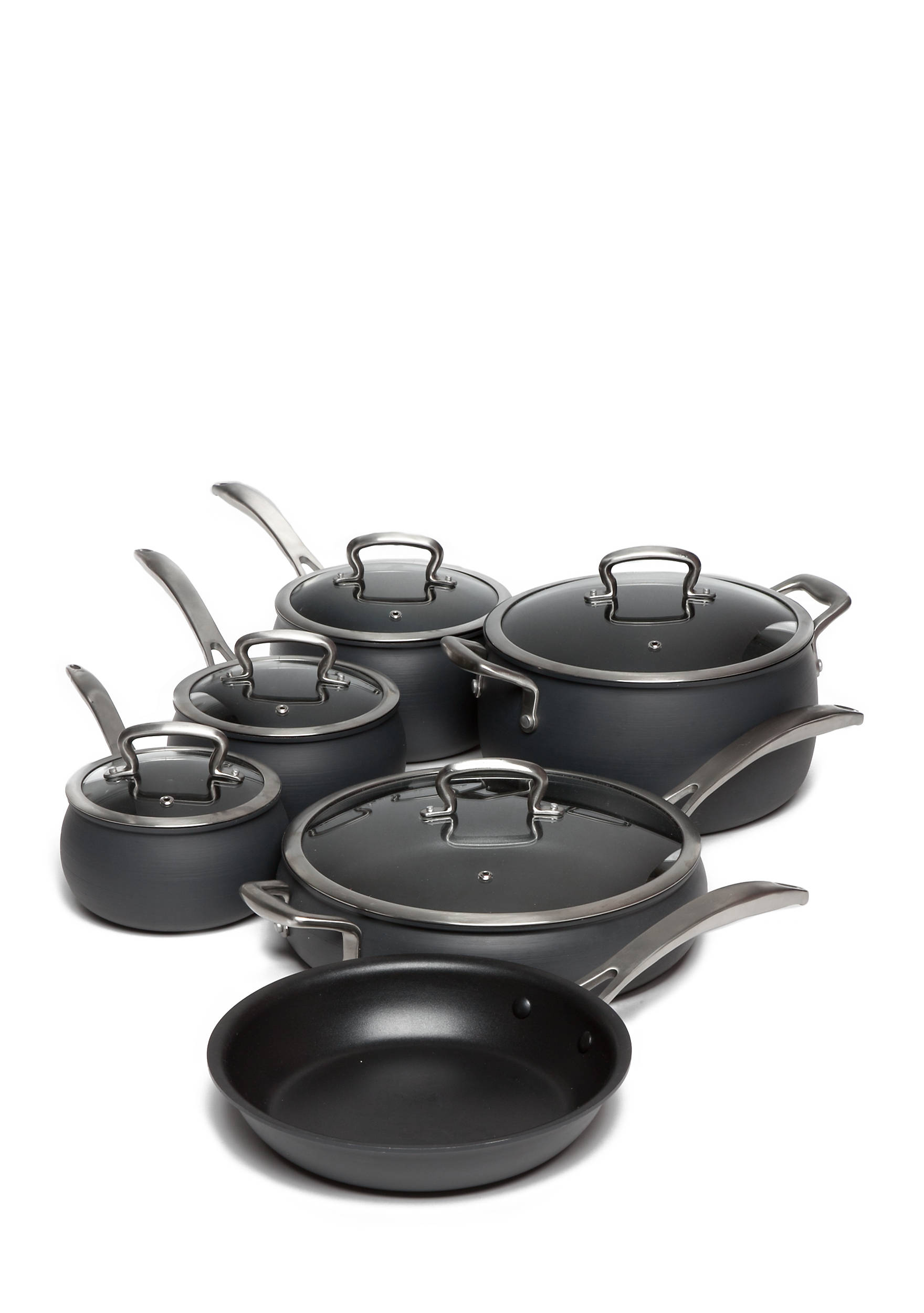 Biltmore11-Piece Non-Stick Safe Hard Anodized Belly Cookware Set