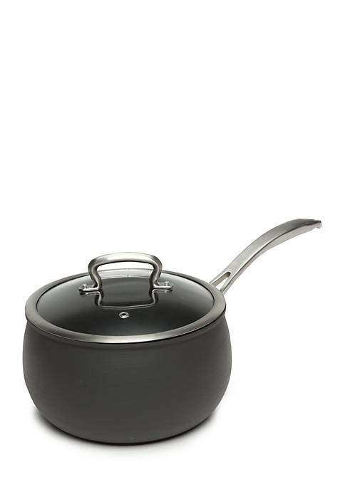 4-qt. Nonstick Dishwasher Safe Hard Anodized Belly Saucepan