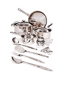 19-Piece Stainless Steel Cookware Set