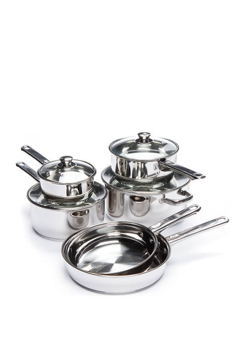 Cooks Tools™ Stainless Steel 10-Piece Cookware Set
