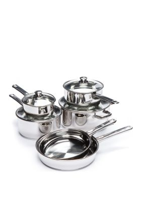Cooks Tools Stainless Steel 10-Piece Cookware Set